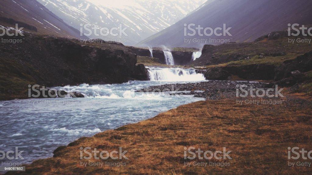 Iceland valley stock photo
