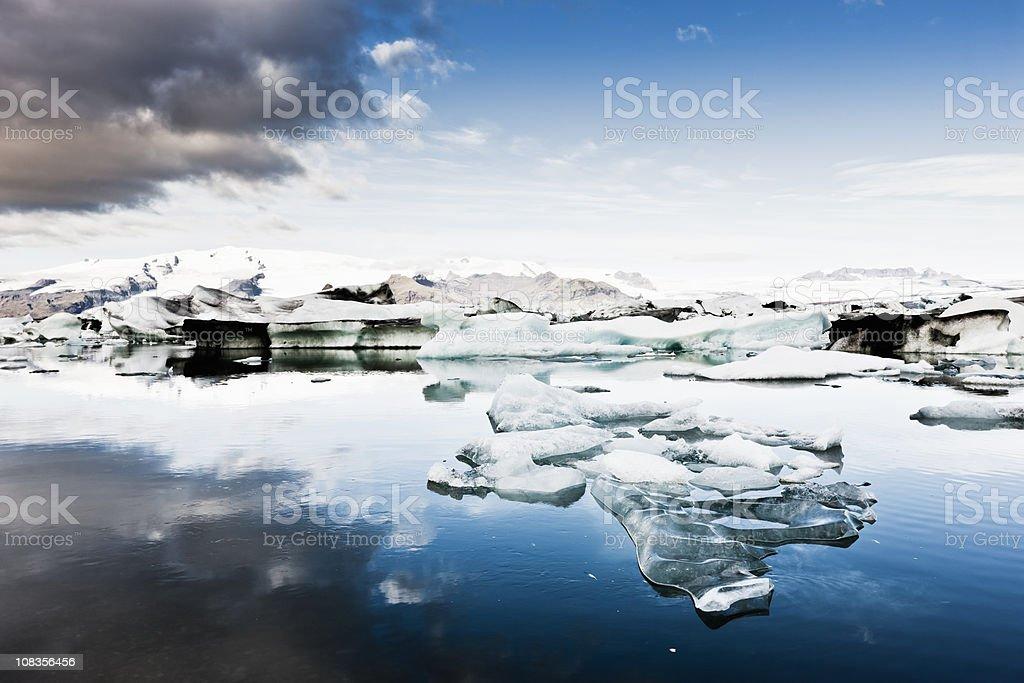 Iceland Vatnajokull Glacier Early Morning  Arctic Stock Photo