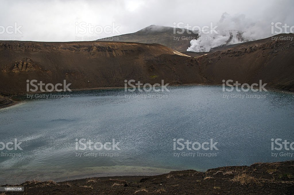 Island - Viti-Krater des Vulkans Krafla am Myvatn-See stock photo