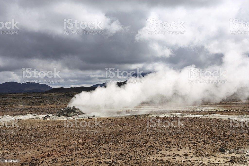 Iceland volcanic area royalty-free stock photo
