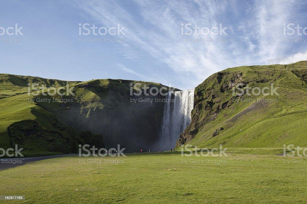 Iceland. Waterfall royalty-free stock photo