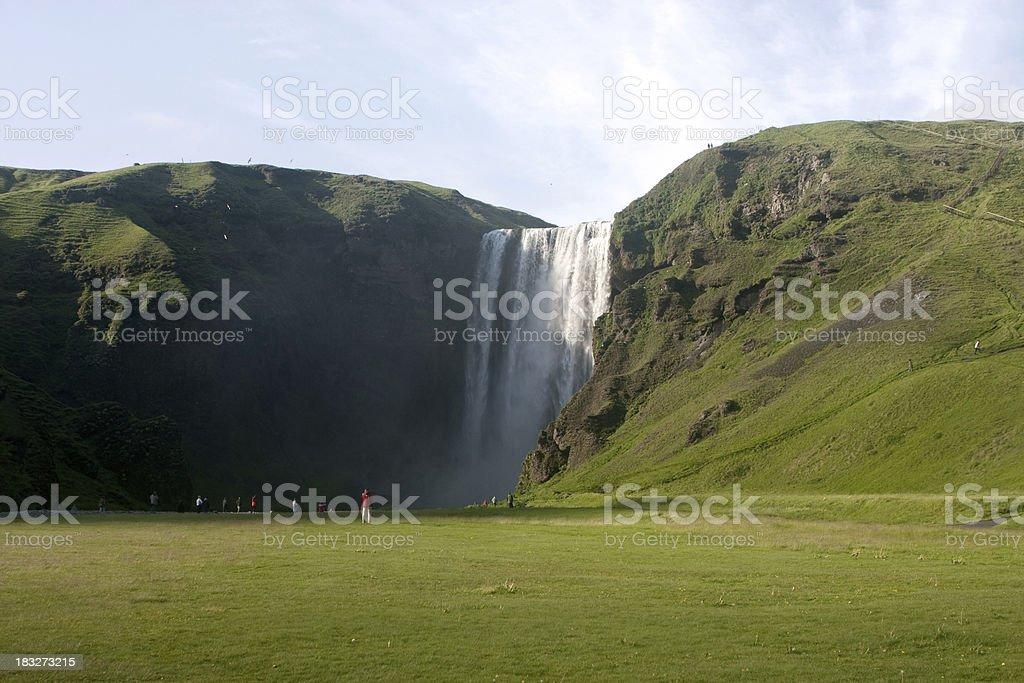 Iceland. Waterfall. royalty-free stock photo