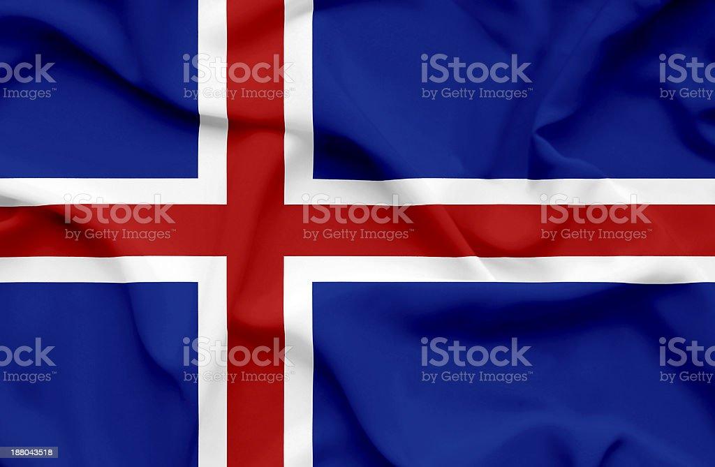 Iceland waving flag royalty-free stock photo