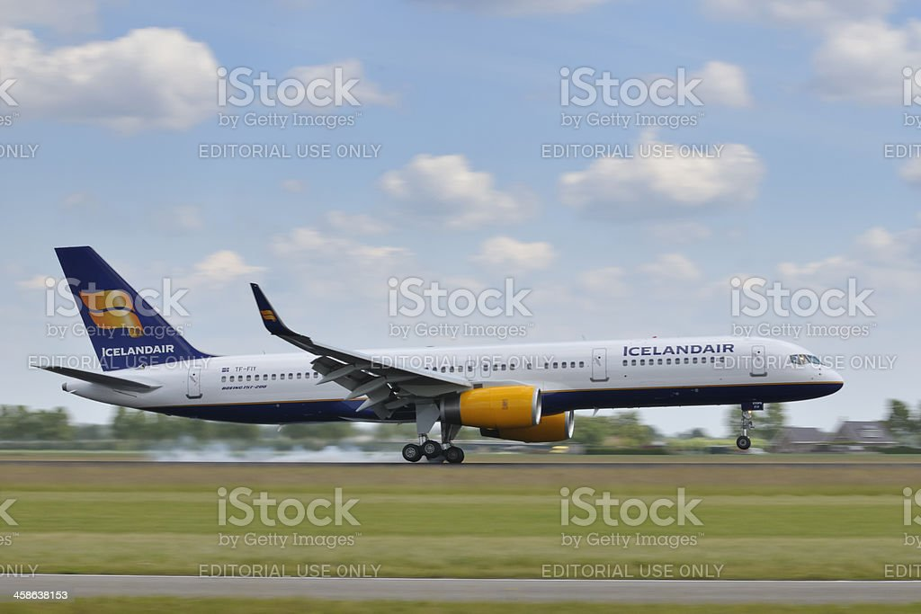 Icelandair airlines plane taking off royalty-free stock photo