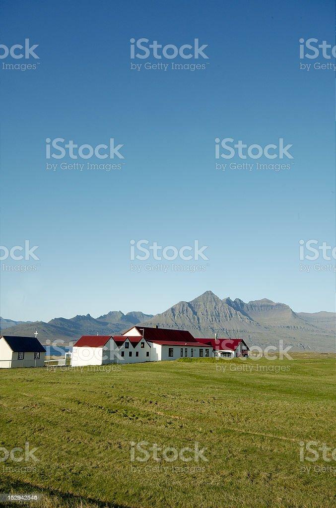 Icelandic farm royalty-free stock photo