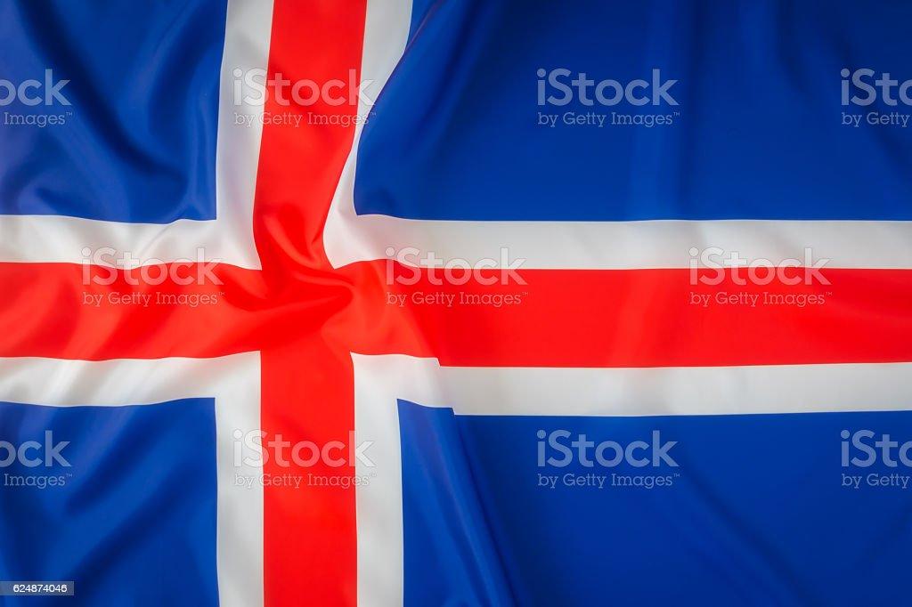 Bandeira Islandesa - foto de acervo