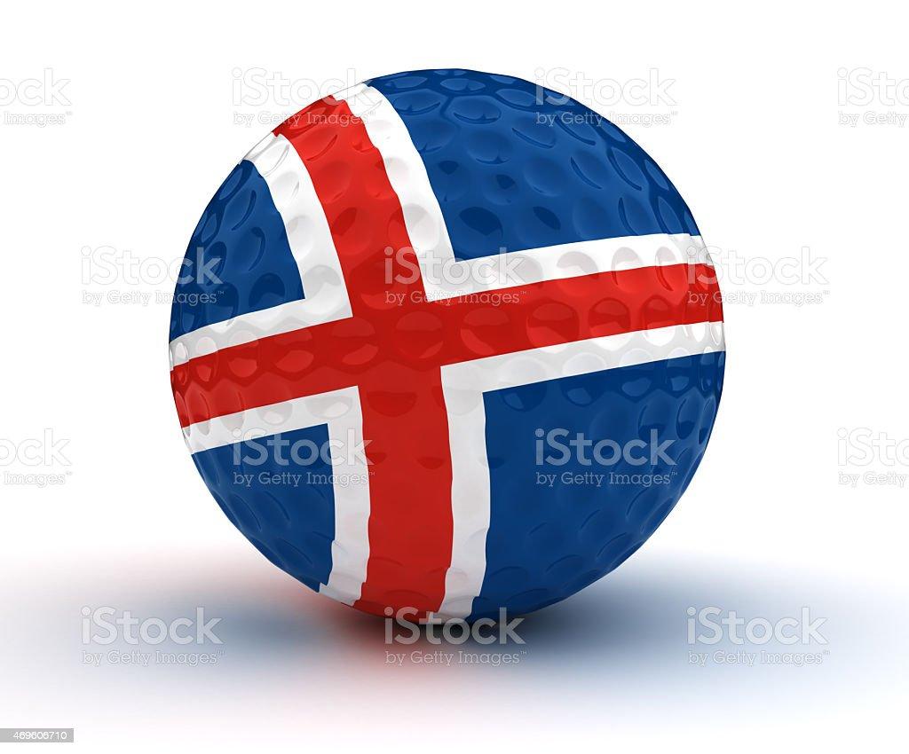 Icelandic bola de golfe - foto de acervo