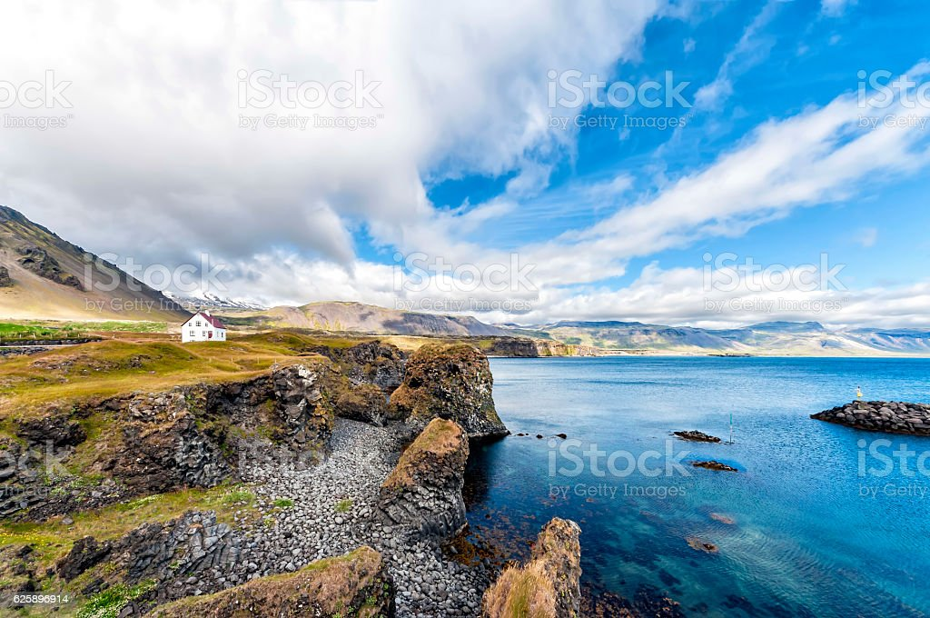 Icelandic landscape in Snaefellsnes peninsula stock photo