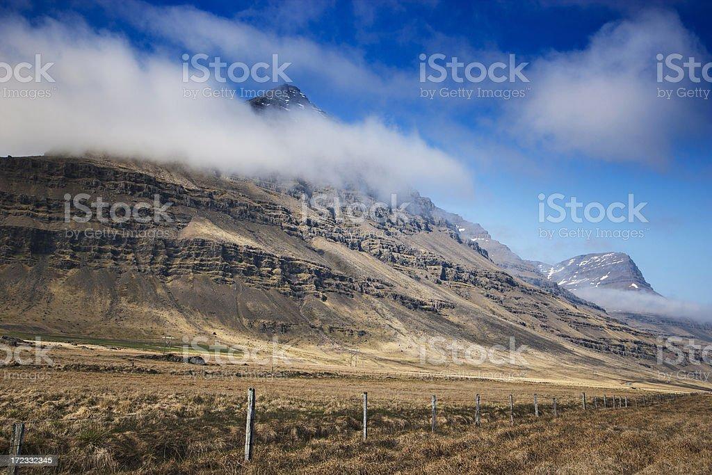 Icelandic mountains stock photo