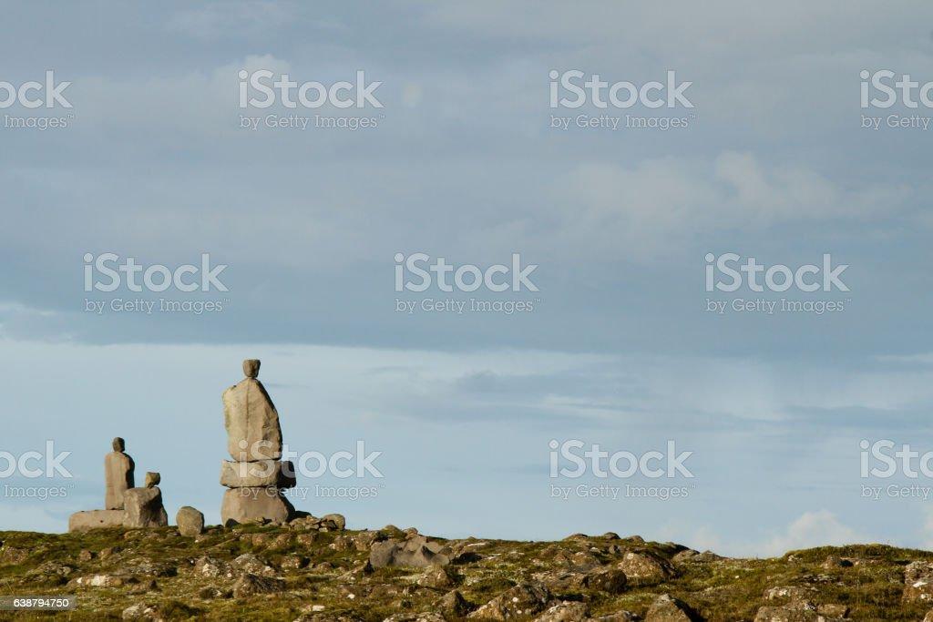 Icelandic Stone Sculptures stock photo