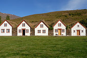 istock Icelandic turf houses in Laufas near Akureyri,Iceland 134162123