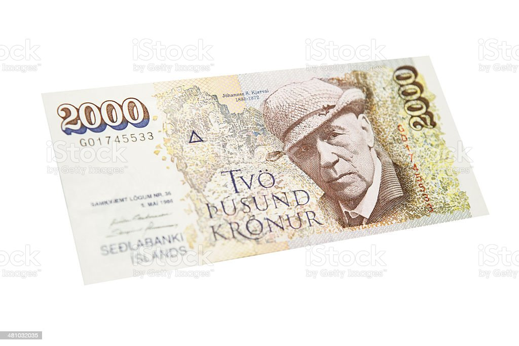 Icelandic Two Thousand Krona Note Front Stock Photo More Pictures