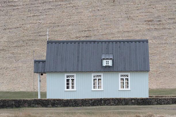 Icelandic typical home- stock photo