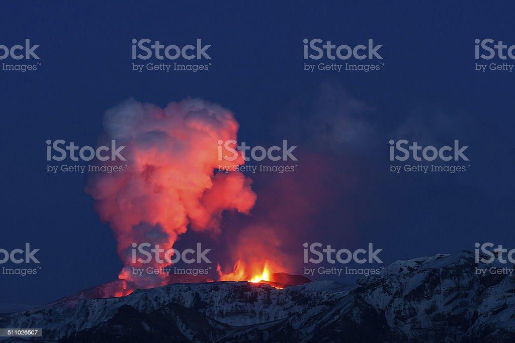 Icelandic Volcano Eruption. stock photo