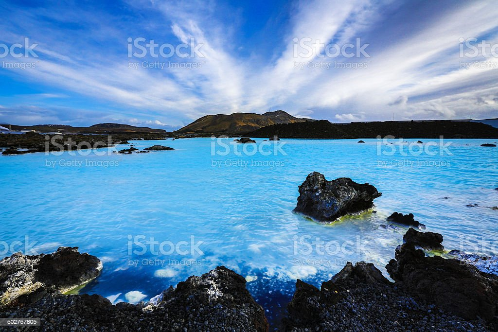 Iceland's Blue Lagoon stock photo