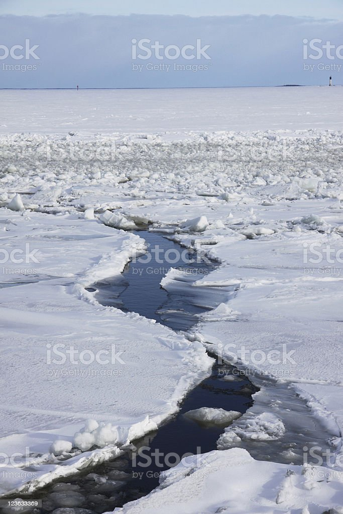 ice-pack breaking up stock photo