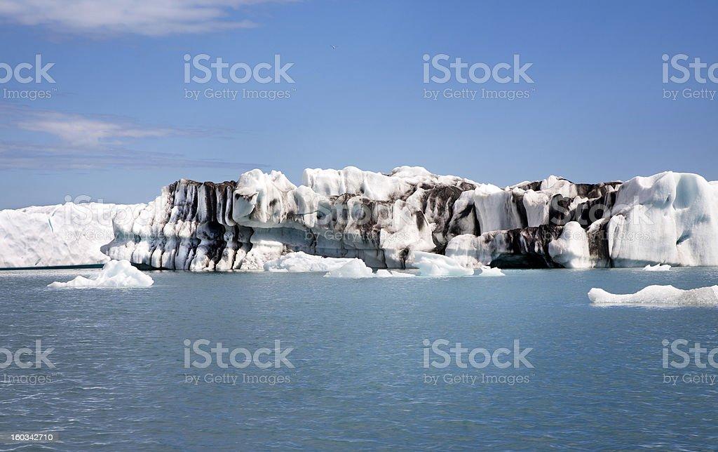 Ice&sand royalty-free stock photo