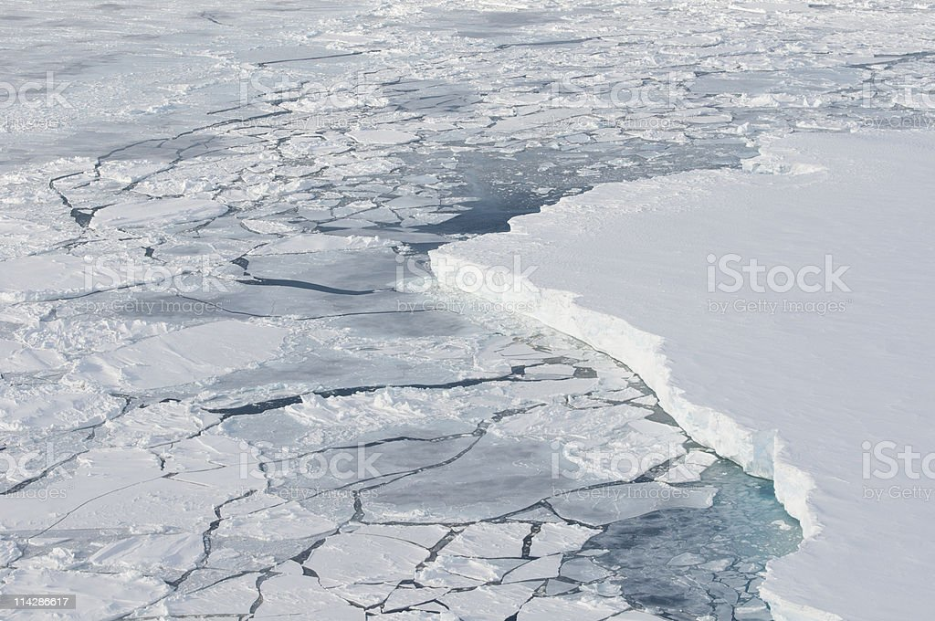 Iceshelf stock photo
