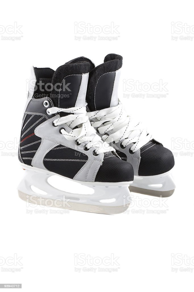 Ice-skates isolated on white. royalty-free stock photo