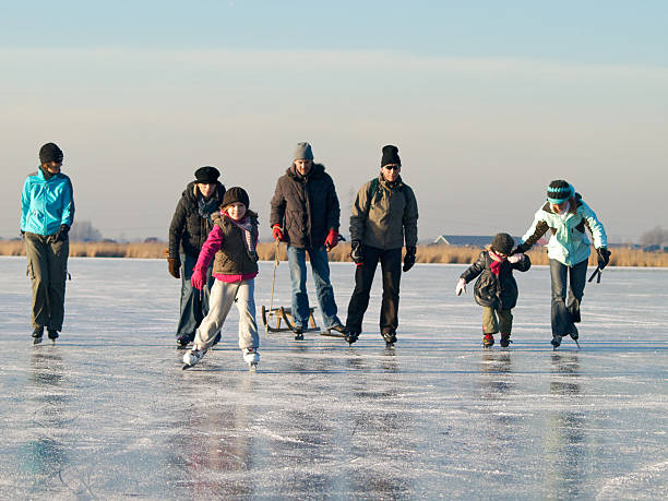 ice-skating series stock photo