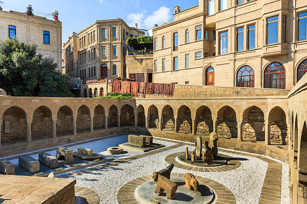 Ichari Shahar old town Baku Azerbaijan archeology display stock photo