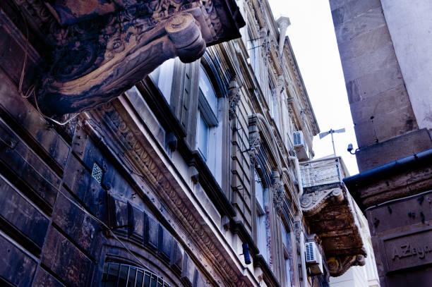 Ichari Shahar streets (Inner City - Baku Old City) State Historical-Architectural Reserve stock photo