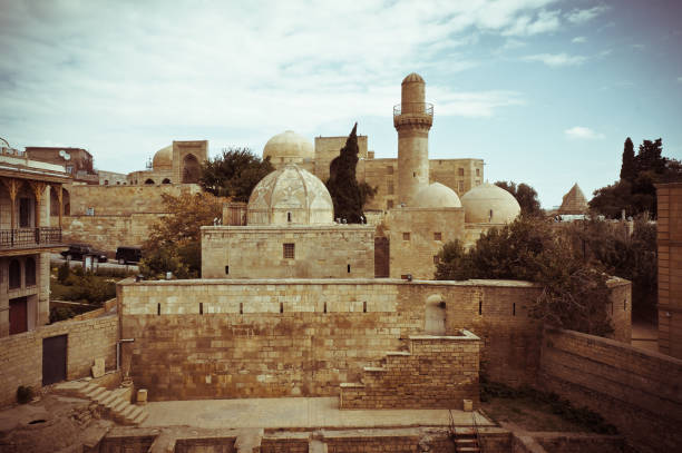 Ichari Shahar view (Inner City - Old City) State Historical-Architectural Reserve stock photo
