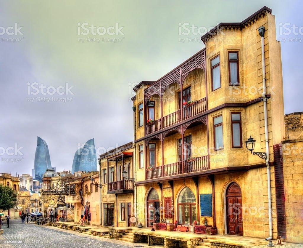 Icheri Sheher, the Old Town of Baku stock photo