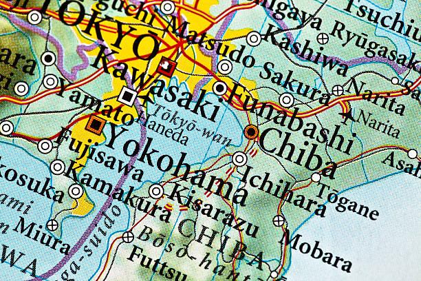 ichihara mapy, japonia - prefektura kanagawa zdjęcia i obrazy z banku zdjęć