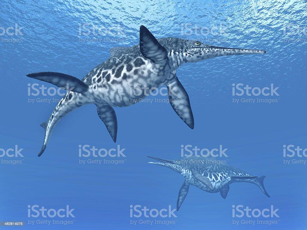 Ichthyosaur Shonisaurus stock photo