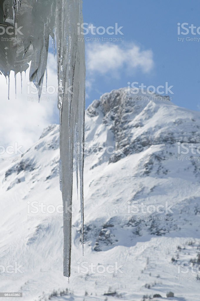 icicle and mountain royalty-free stock photo