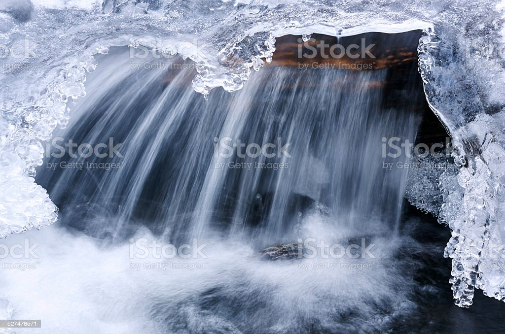 icicle waterfall stock photo