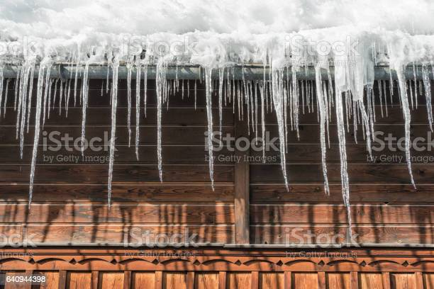 Photo of Icicles hanging from Roof