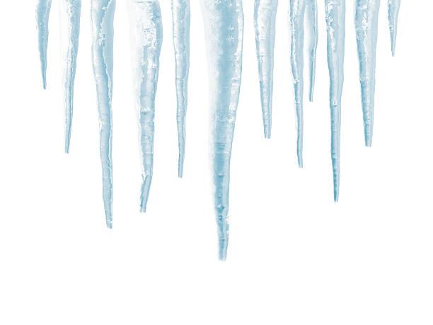 icicles 흰색 바탕에 흰색 배경 - 고드름 뉴스 사진 이미지
