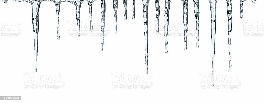 Icicles isolated on white stock photo