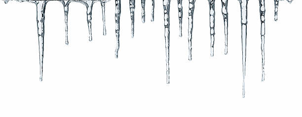 icicles isolated on white - icicle bildbanksfoton och bilder