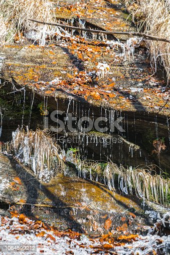 1141614053 istock photo Icicles on Forest Stream 1064599212