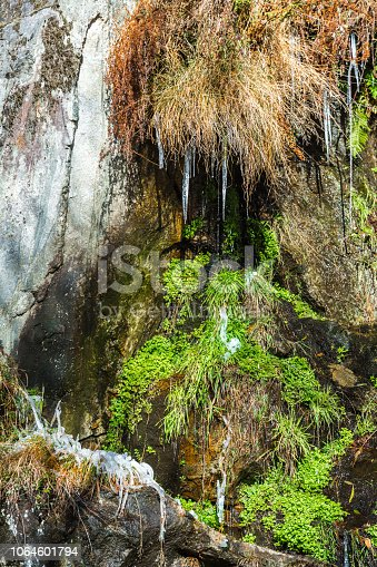 1141614053 istock photo Icicles on Forest Stream 1064601794
