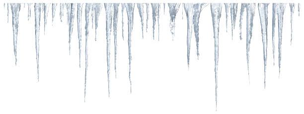 흰색 배경의 icicles 세트 - 고드름 뉴스 사진 이미지