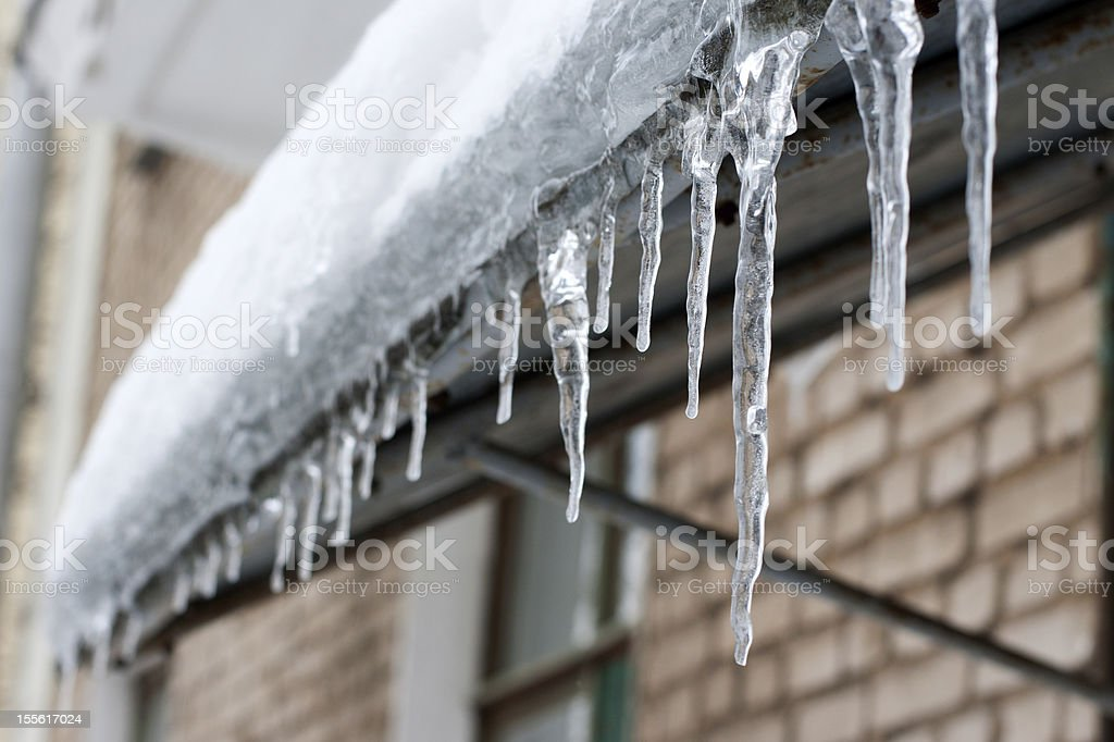 icicles which are hanging down stock photo
