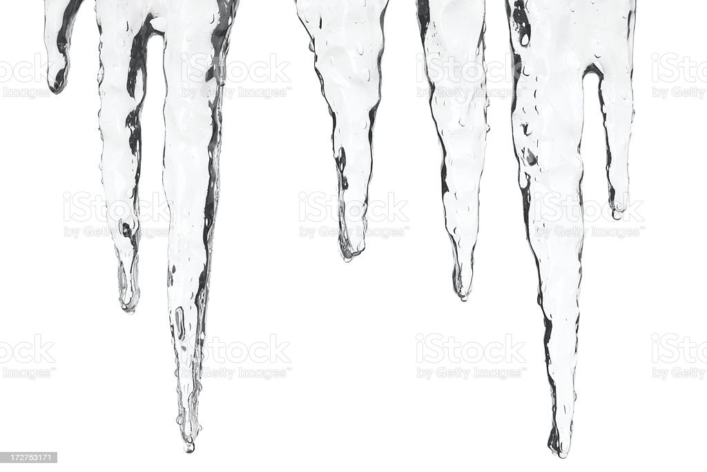 icicles with detailed clipping path stock photo