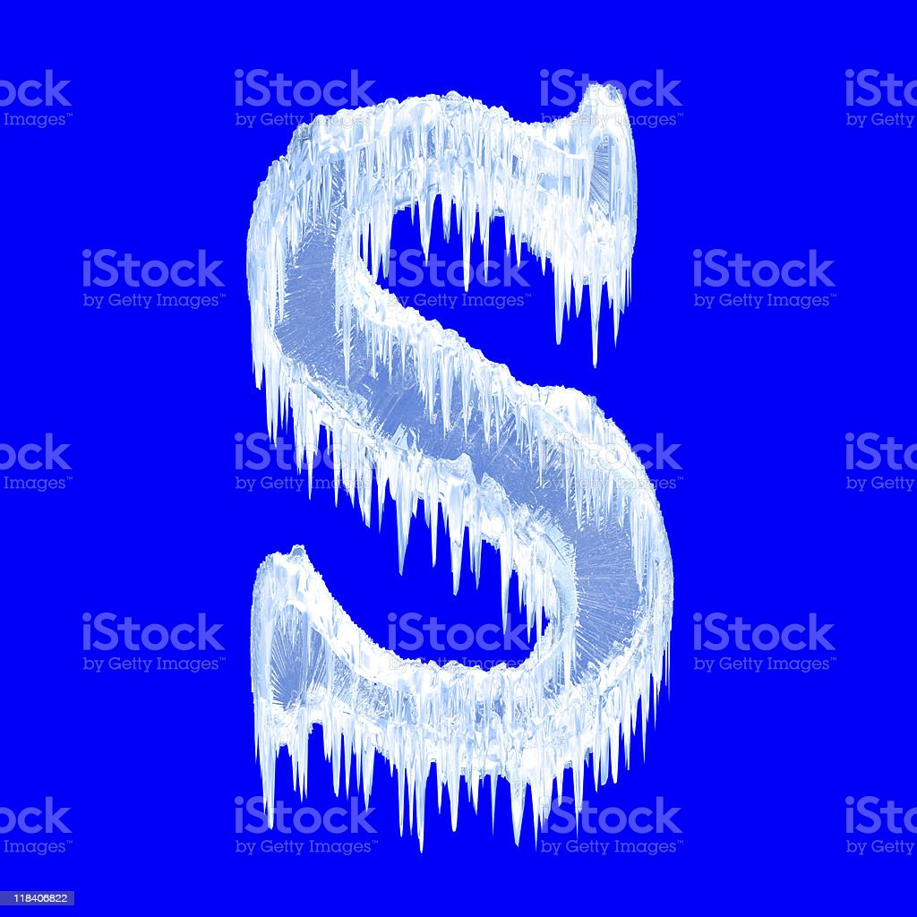 Icing alphabet stock photo
