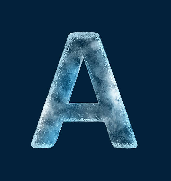 Icing alphabet the letter A stock photo