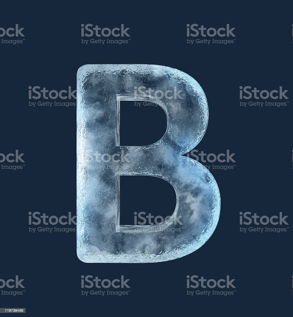 Icing alphabet the letter B stock photo