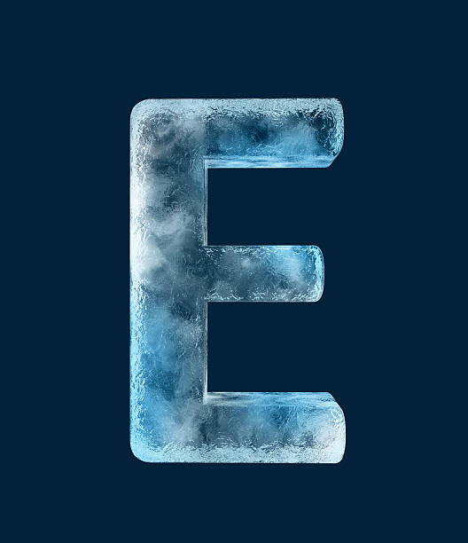 Icing alphabet the letter E stock photo
