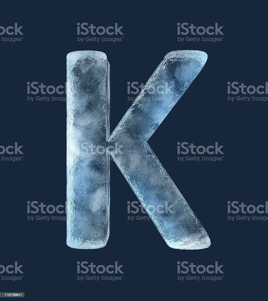 Icing alphabet the letter K royalty-free stock photo