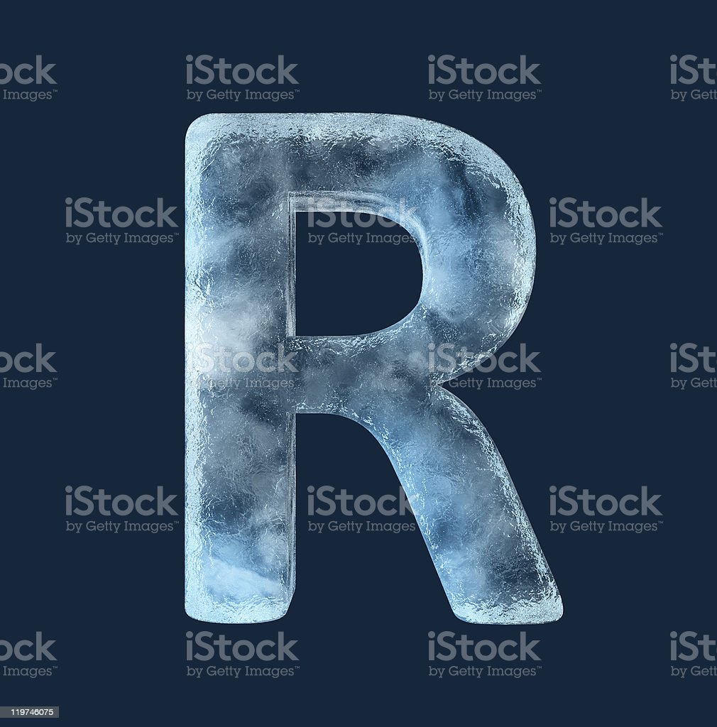 Icing alphabet the letter R stock photo