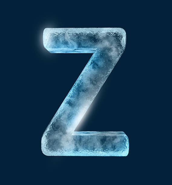 Icing alphabet the letter Z stock photo