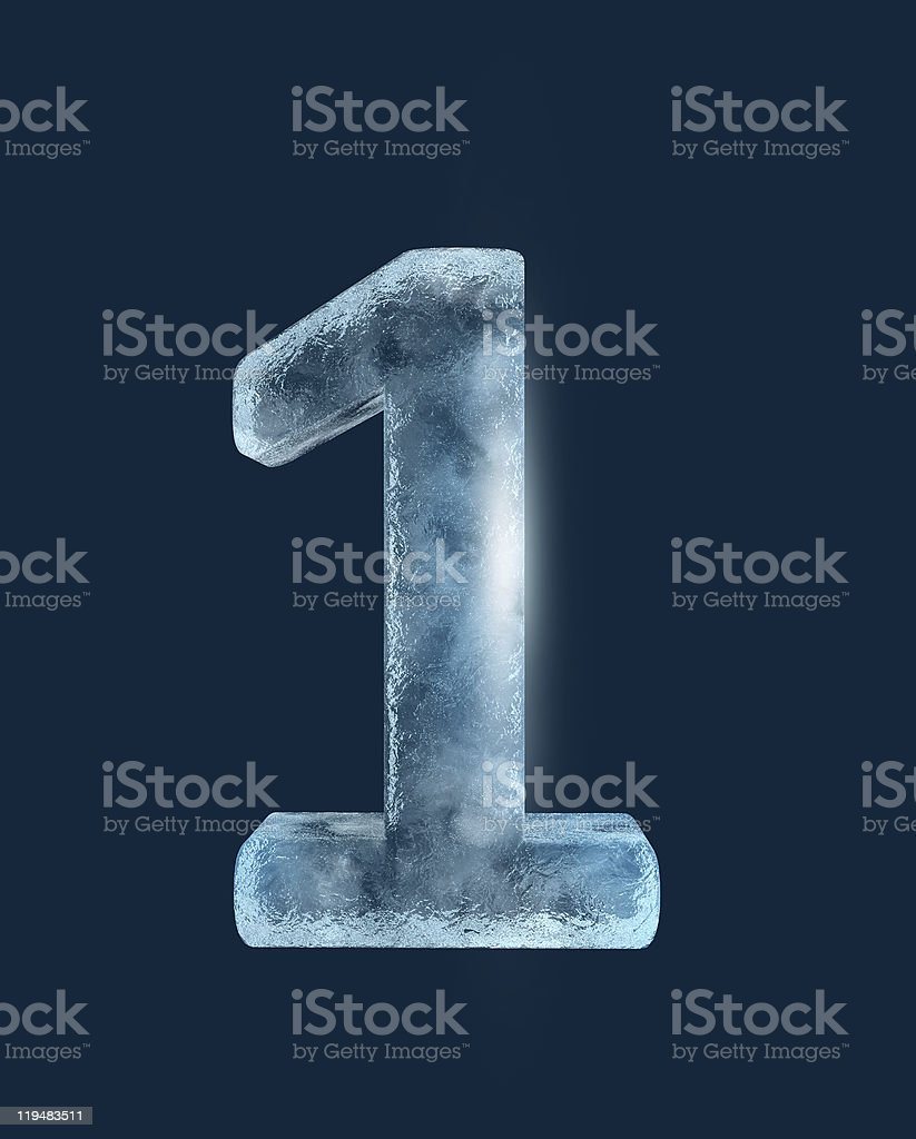 Icing alphabet the number 1 stock photo
