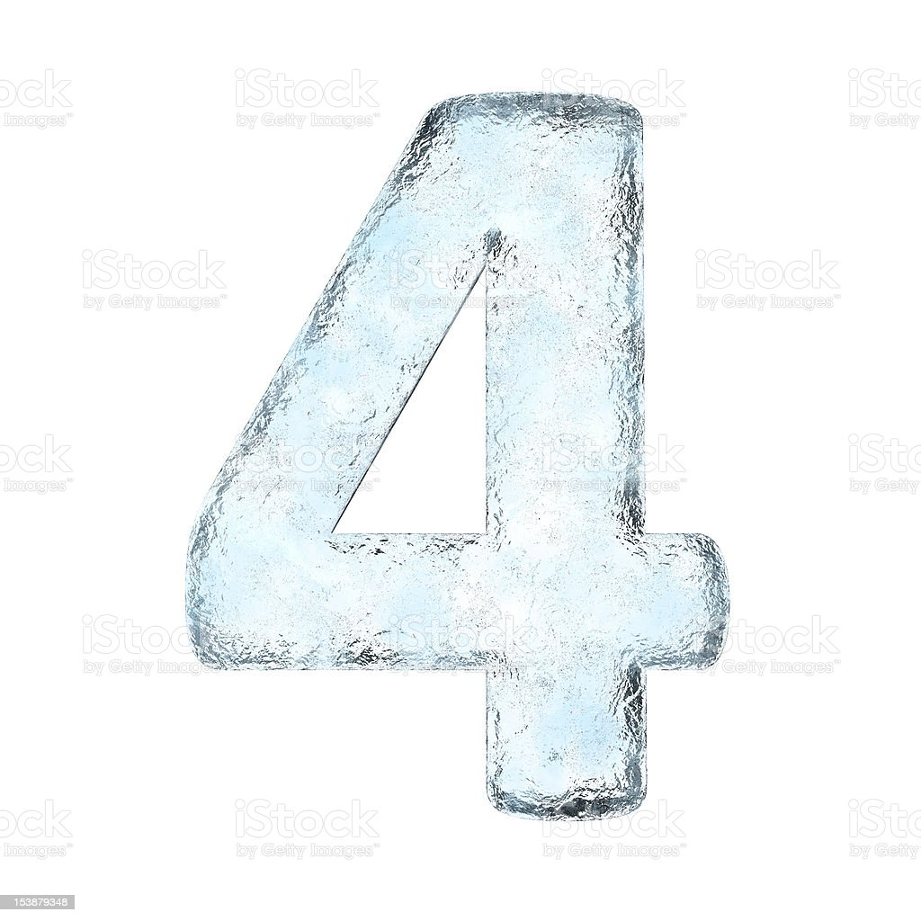 Icing alphabet the number 4 stock photo
